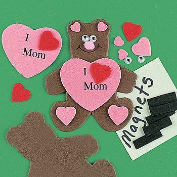 Manualidades con foamy dia de la madre, oso