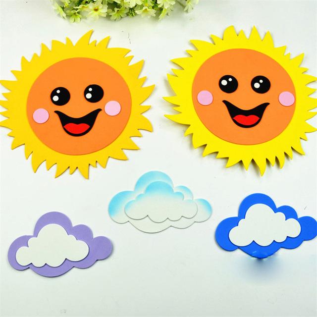 Manualidades goma eva fáciles para verano y para niños, soles