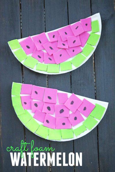 Manualidades goma eva fáciles para verano y para niños, sandía