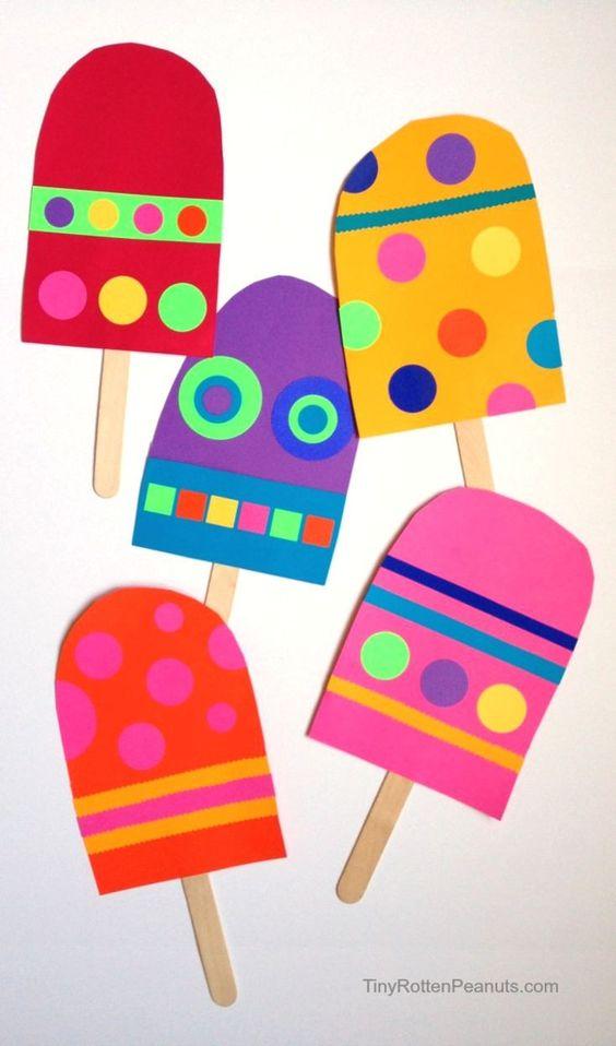 Manualidades goma eva fáciles para verano y para niños, helados