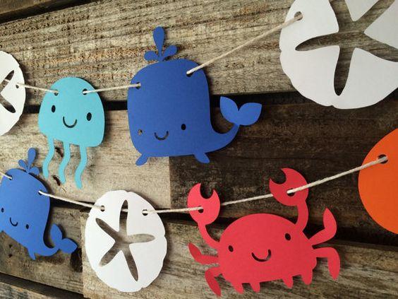 Manualidades goma eva fáciles para verano y para niños, animales marinos