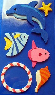 Manualidades goma eva fáciles para verano y para niños, peces