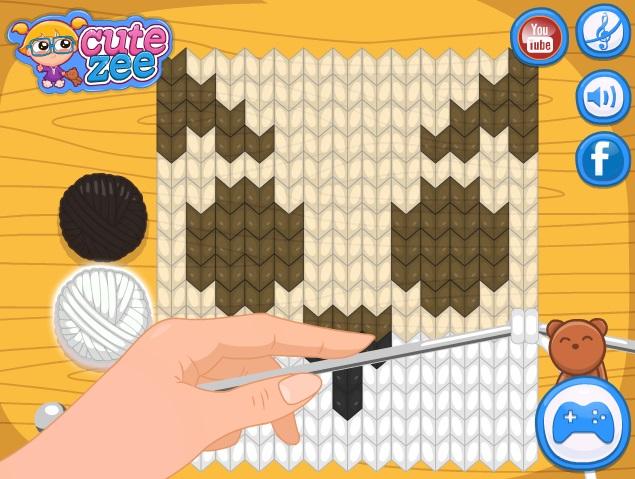 Juegos manualidades tejer