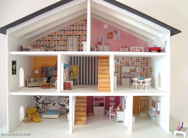 Casas de muñecas para muñecas de foamy y Fofuchas
