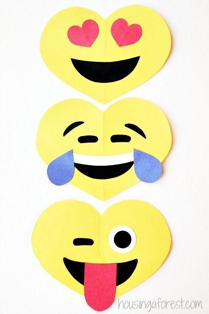 Manualidades foamy San Valentín emojis