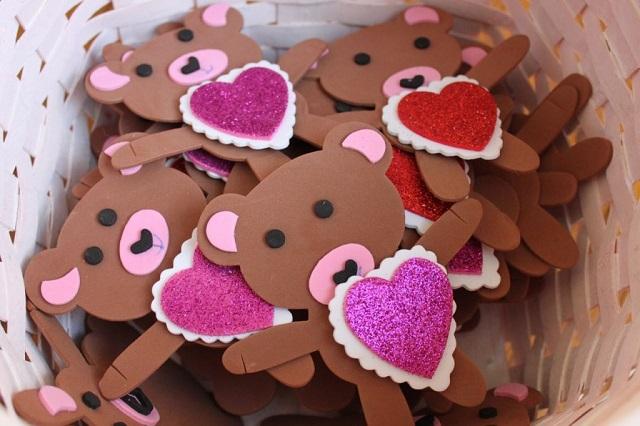 Manualidades foamy San Valentín ositos