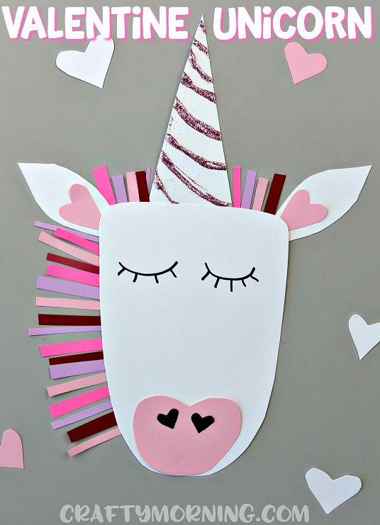 Manualidades foamy San Valentín unicornio