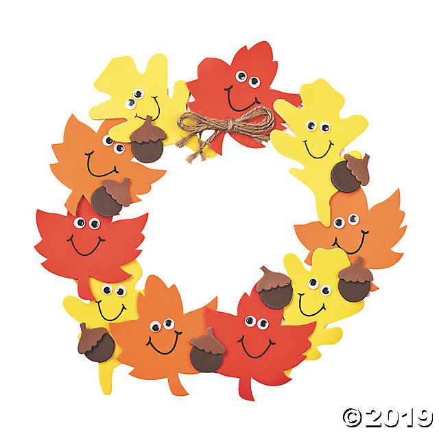 Corona goma eva otoño para puerta de casa 3