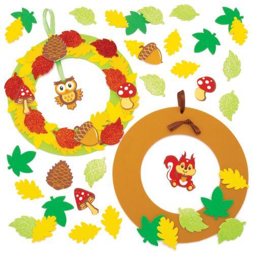 Corona goma eva otoño para puerta de casa 4