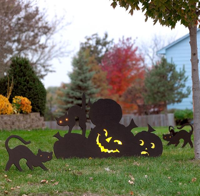 Decoración Halloween exterior de casa goma eva 7