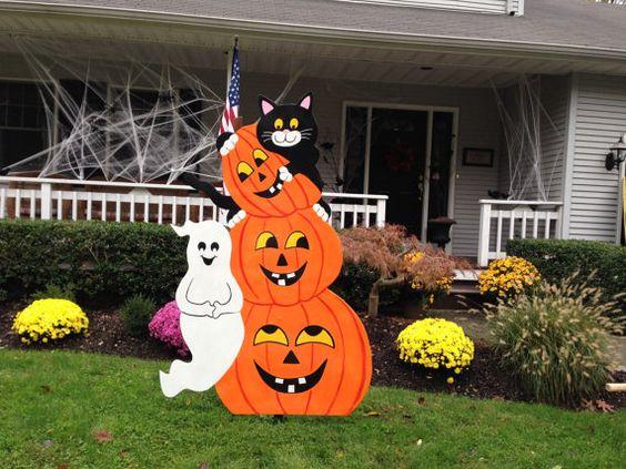 Decoración Halloween exterior de casa goma eva