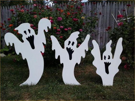 Decoración Halloween exterior de casa goma eva 4
