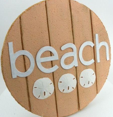 Manualidades foamy playa, cartel