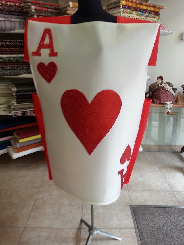 Disfraz tela foam carta as de corazones