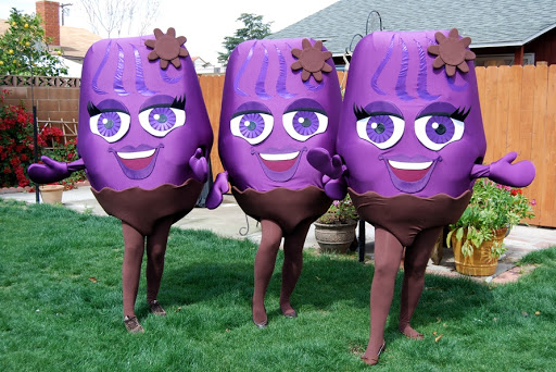 Disfraz con tela foam uvas